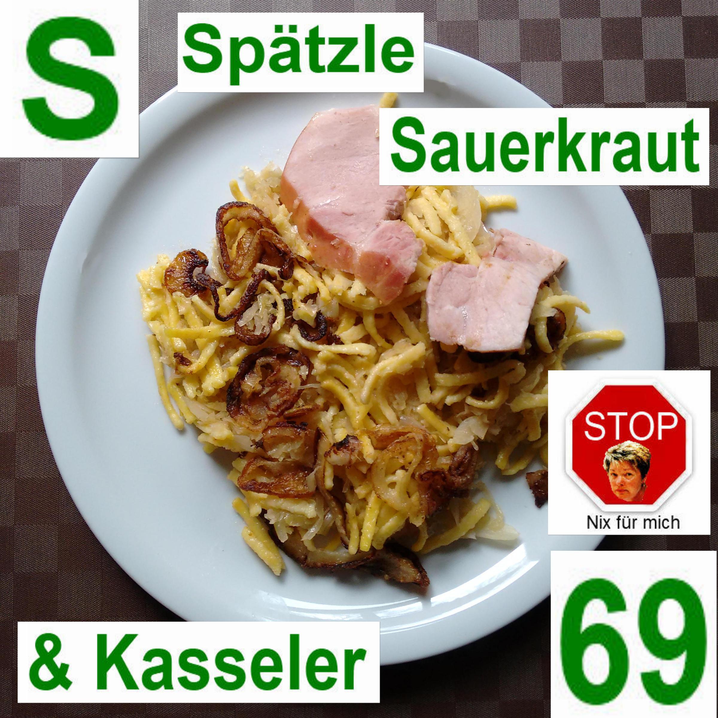 Spätzle Sauerkraut  Kasseler | vonMich